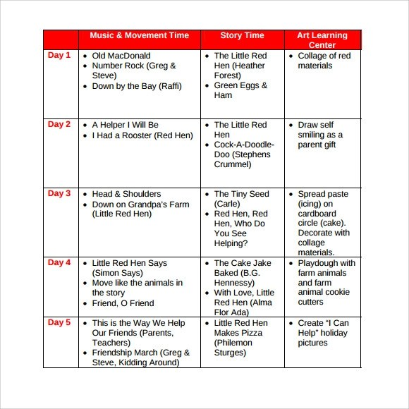 Sample Toddler Lesson Plan - 8+ Documents in PDF, Word