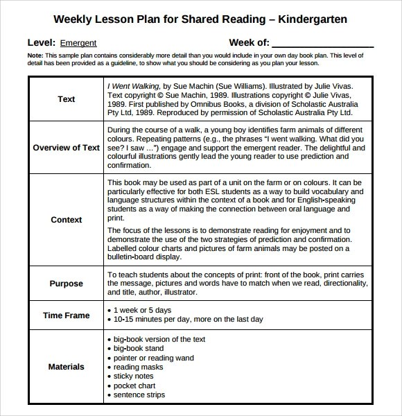 9+ Sample Guided Reading Lesson Plans Sample Templates