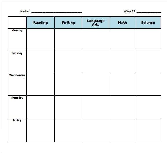 11+ Sample Blank Lesson Plans Sample Templates - Blank Lesson Plan Template