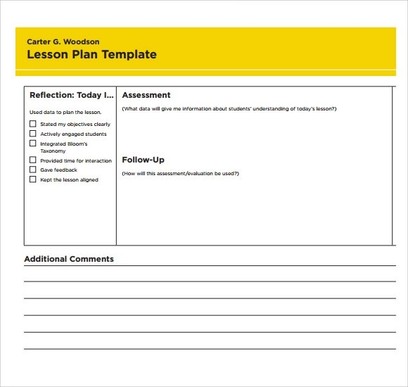Sample Printable Lesson Plan Template  NodeCvresume