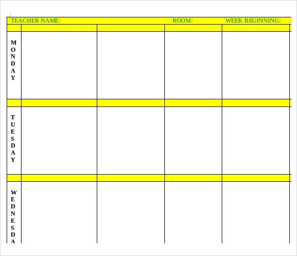 Lesson Plan Template 60 Free Word Excel PDF Format Free Free - Planning Template Word
