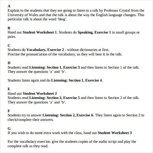 teacher lesson plan template word