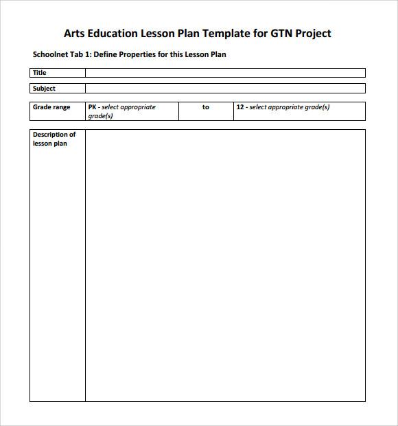Art Lesson Plans Template Free Art Think Lesson Plan Pdf Template - art lesson plans template