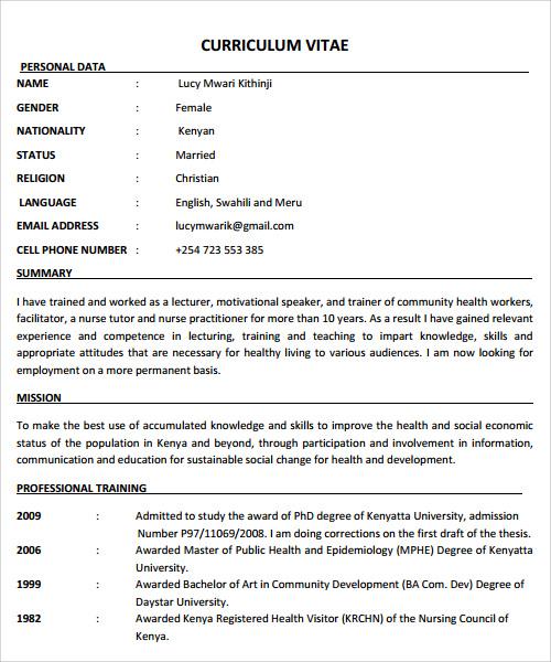 free nursing resume template word