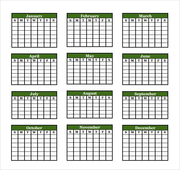 Microsoft Calendar Template -8+ Download Free Documents in Word - annual calendar template