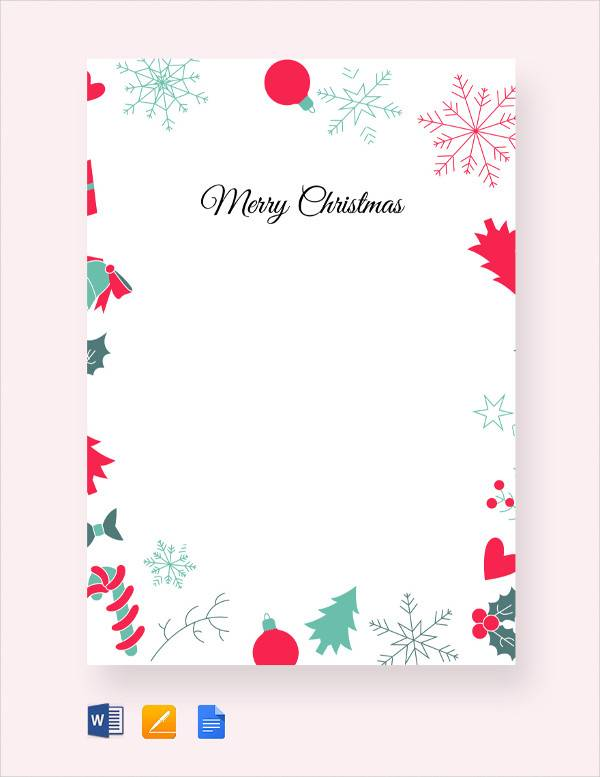 Sample Christmas Letter - 24+ Documents In PDF, Word