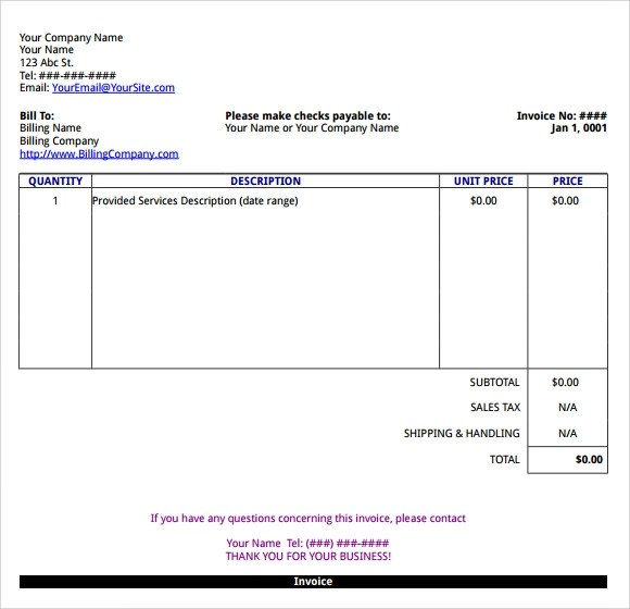 Sample Microsoft Invoice Template - 14+ Download Free Documents in