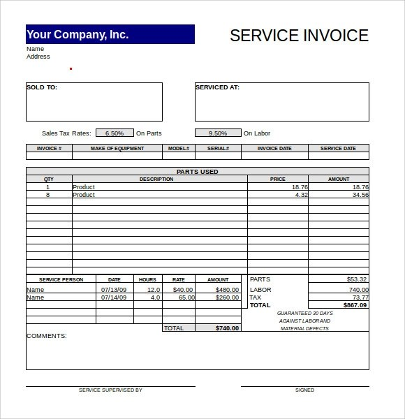 15 Microsoft Invoice Templates Download for Free Sample Templates