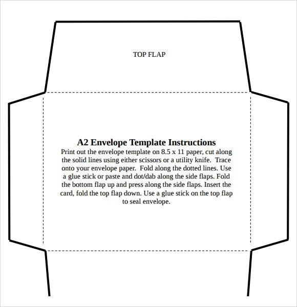 Sample A Envelope Template  NodeResumeTemplatePaasproviderCom