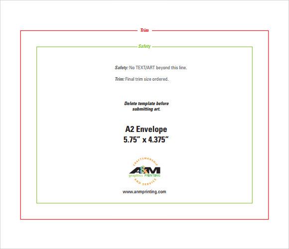 a2 envelope template