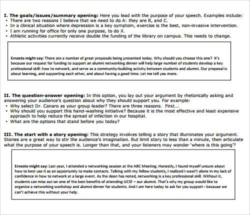 23+ Sample Speech Examples - PDF