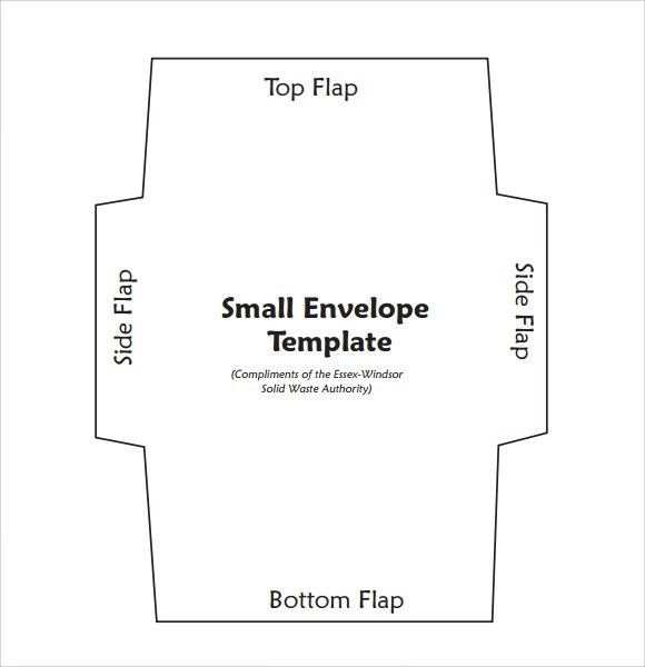 Sample Small Envelope Template - 7+ Free Documents in PDF , Word - sample 5x7 envelope template