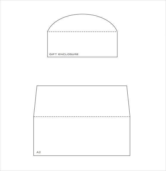 a7 envelope liner template download