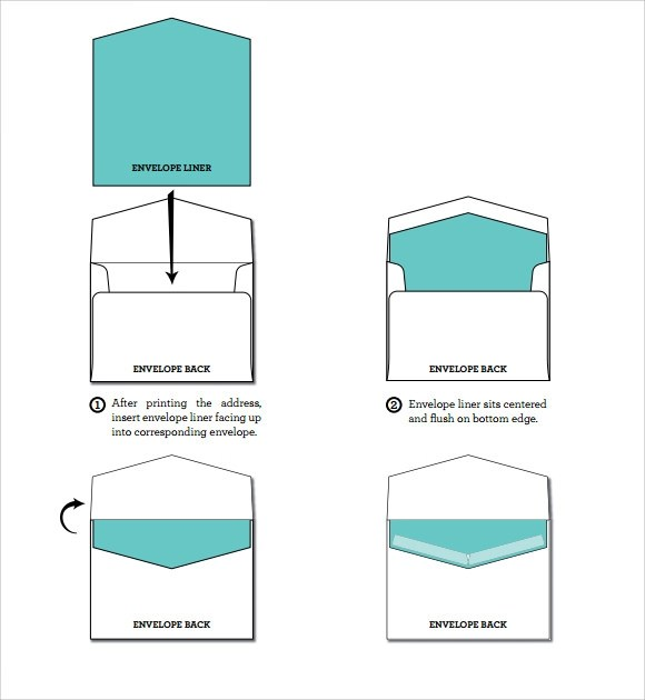 9 Envelope Liner Templates Download for Free Sample Templates - A7 Envelope Template