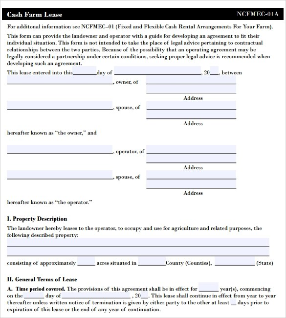 Pasture Lease Agreement Template - 6+ Download Free Documents In - sample pasture lease agreement template