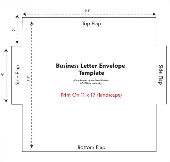 12+ Business Envelopes Sample Templates - sample 5x7 envelope template