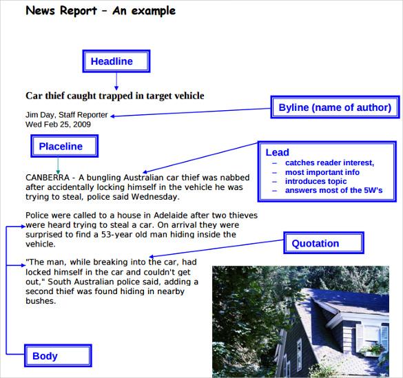 Sample Newspaper Report - 8+ Documents In PDF