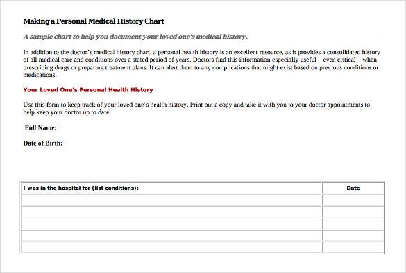 health history template - Pinarkubkireklamowe