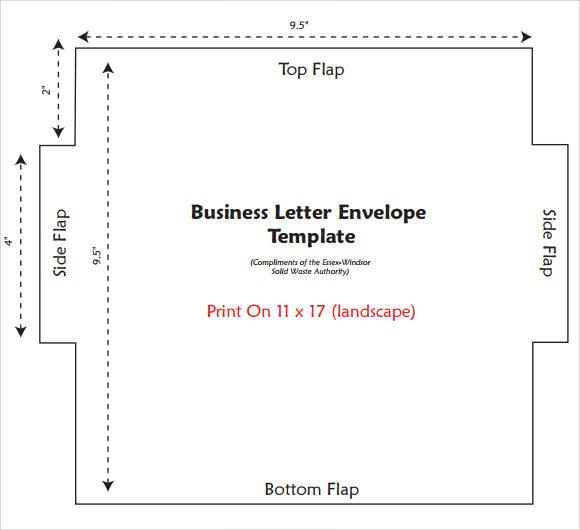 Sample Letter Envelope Templates - 16+ Documents in PDF , PSD - sample 5x7 envelope template