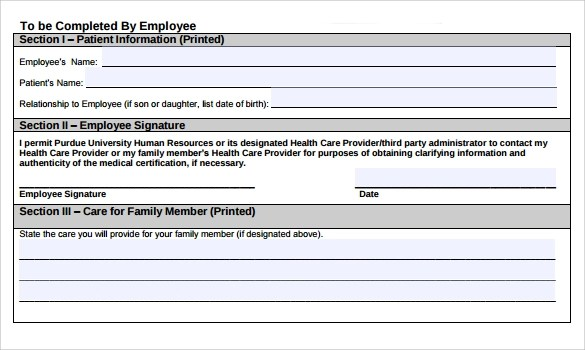 11+ FMLA Forms Sample Templates