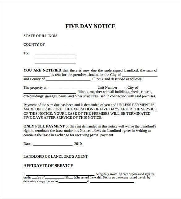 printable eviction notice template - copy of an eviction notice