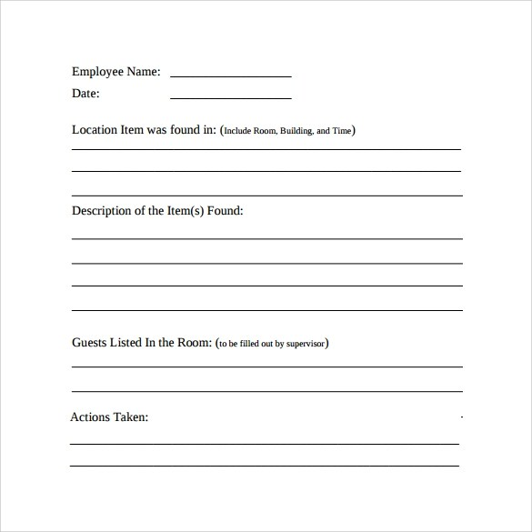 filling out an incident report - Minimfagency - incident reporting template