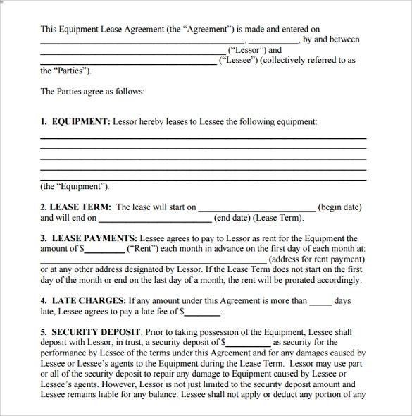 free printable lease agreement pdf