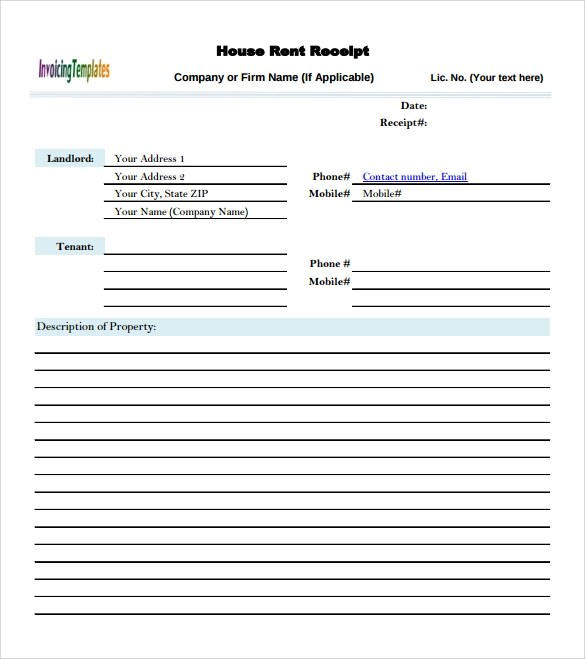 9 Sample Rent Invoice Templates to Download Sample Templates - invoice templates