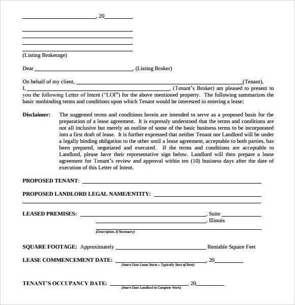 Letter of Intent Real Estate - 9+ Download Free Documents in PDF , Word
