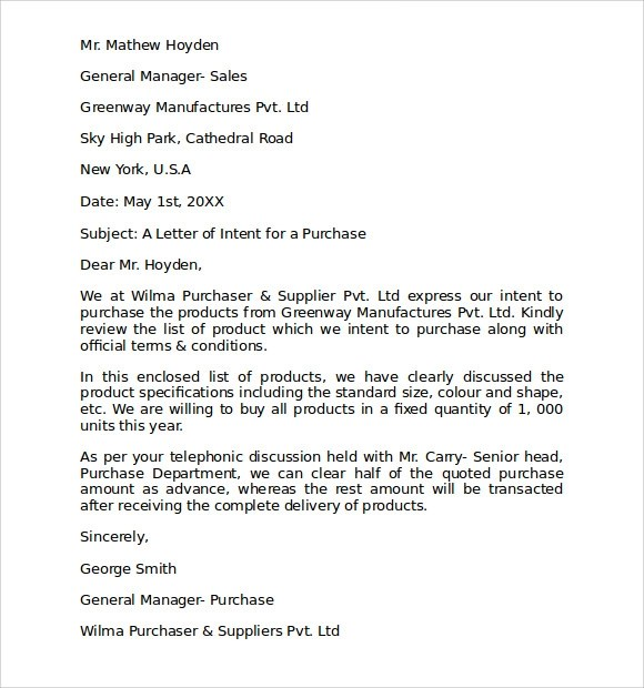 Letter intent purchase business template - visualbrainsinfo - letter of intent to buy a business template