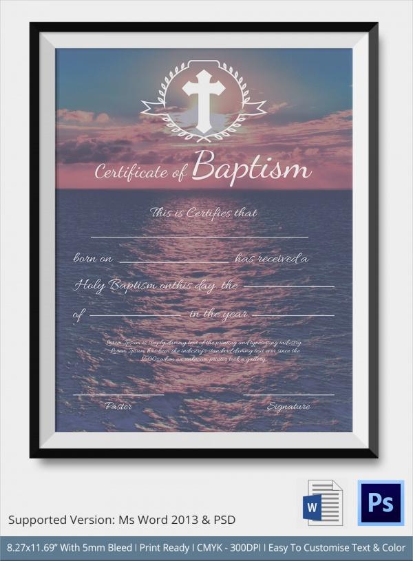 baptism template