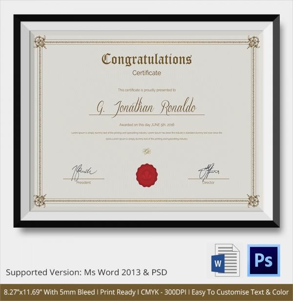 congratulations certificate template - printable congratulations certificate