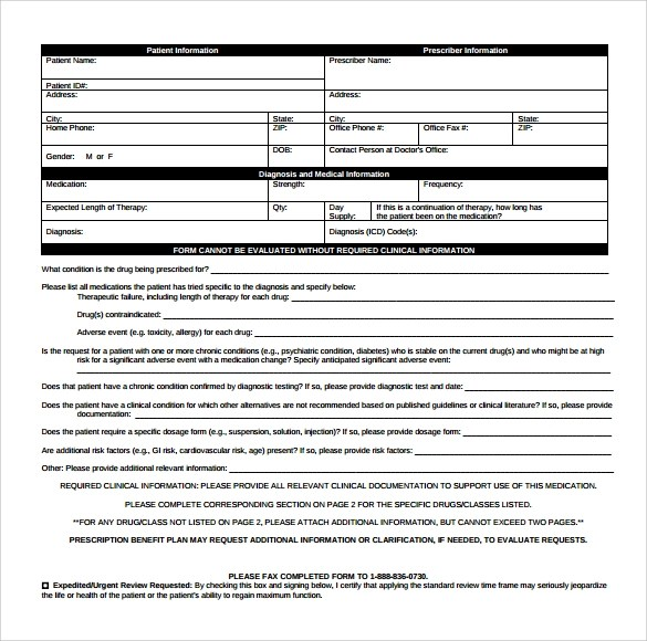 caremark prior authorization request form - Deanroutechoice