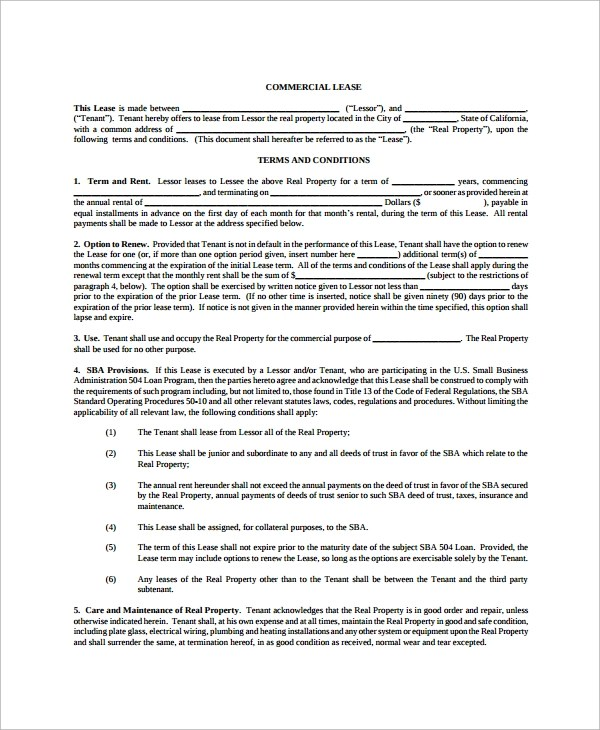 8+ Land Lease Agreement Templates - Free Sample, Example, Format - sample pasture lease agreement template