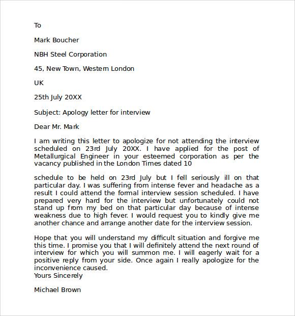 Apology Letter Samples Pdf ~ ANAXMEN