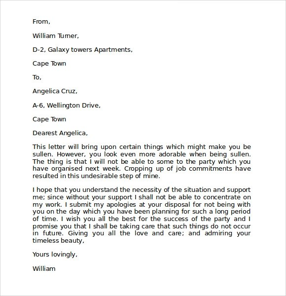 9 Free Download Apology Letters for Mistake Sample Templates