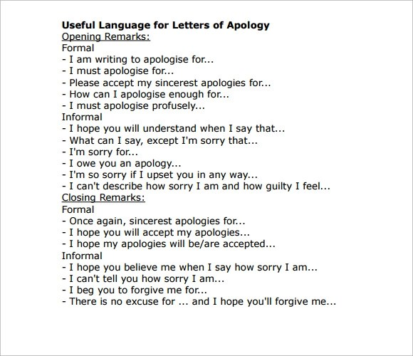 Doc750562 Apology Acceptance Letter Sample How to write a – Boyfriend Thank You Letter Sample