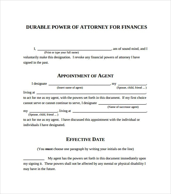 10 Blank Power of Attorney Forms to Download Sample Templates