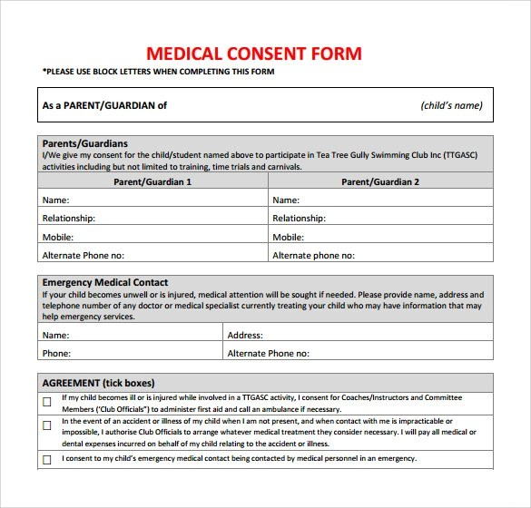 Release Consent Form Template | Example Resume For High School