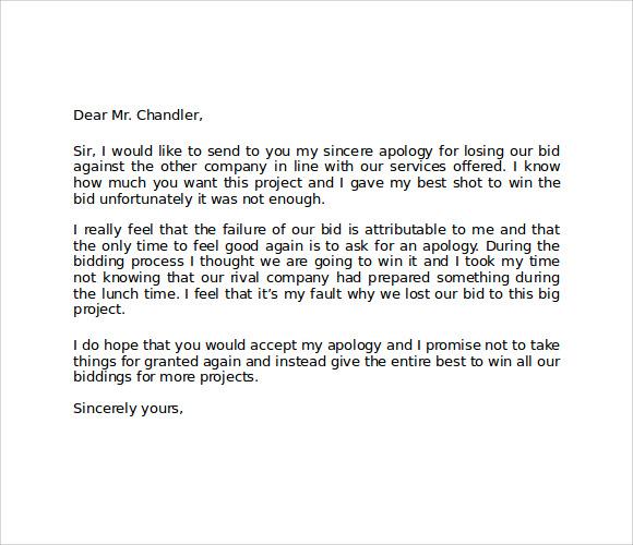 Formal Letter Format Apology | Sample Customer Service Resume