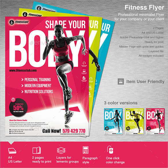 10+ Fitness Flyers Sample Templates - fitness flyer