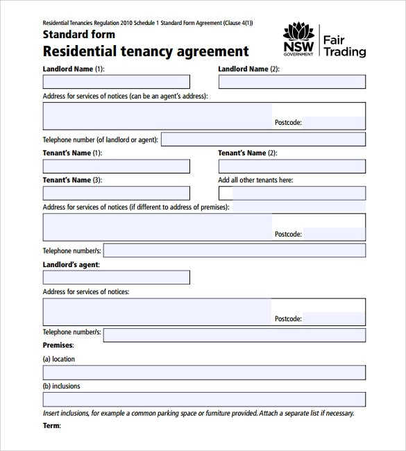Printable Lease Agreement - 10+ Samples, Examples,  Format