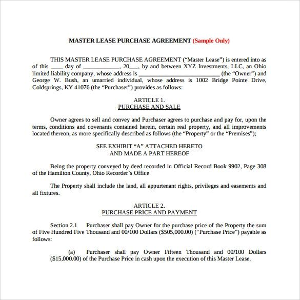 word lease agreement template
