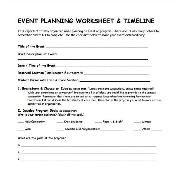 9 Event Timeline Templates \u2013 Samples, Examples, Formats Sample