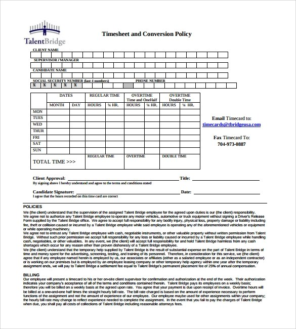 Sample Payroll Time sheet Calculator - 8+ Documents In PDF, Excel