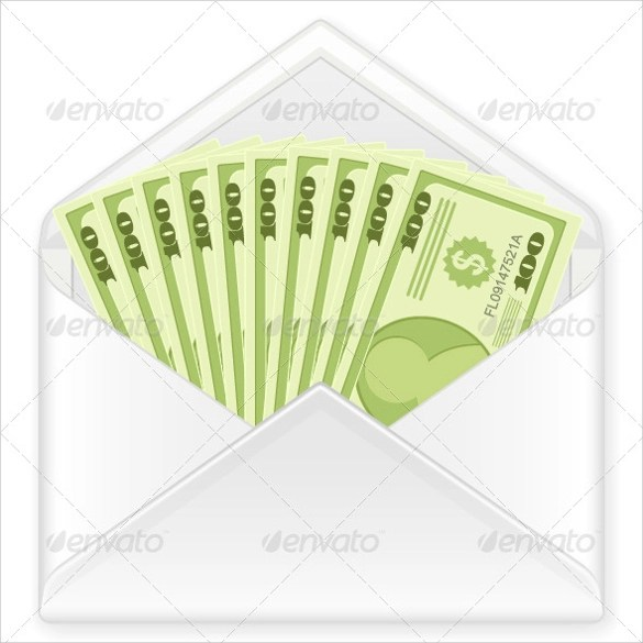 8 Money Envelope Templates \u2013 Samples , Examples  Format Sample