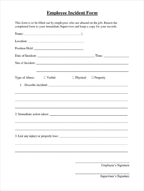 how to write a proper incident report sample security incident - Accident Report Template