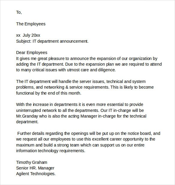 8 Sample It Cover Letter Samples , Examples  Format Sample Templates
