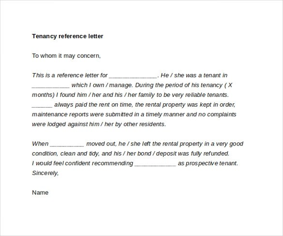 sle rental reference letter - 28 images - tenant reference template - rental reference