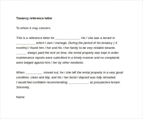 landlord letter samples